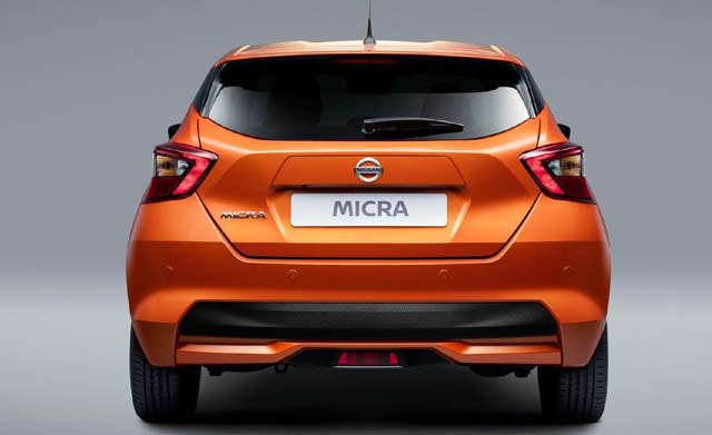 2018 Nissan Micra Rearview