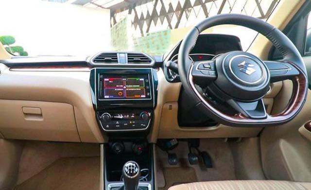 Maruti Suzuki Dzire Special Edition Dashboard