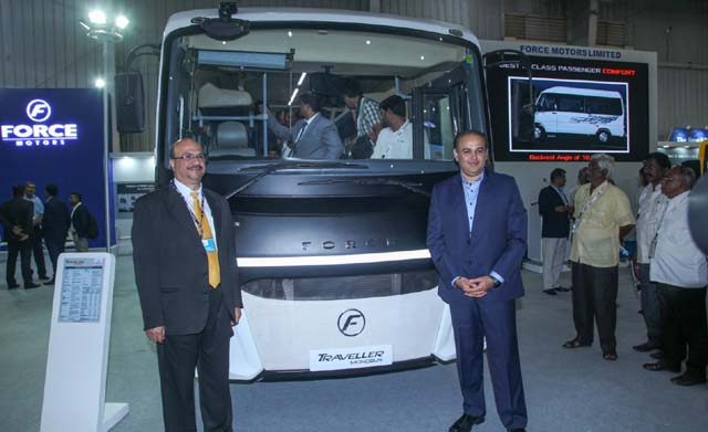 force-motors-launches-traveller-monobus-at-busworld-frontview