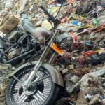2018 royal enfield 500 pegasus dump in garbage