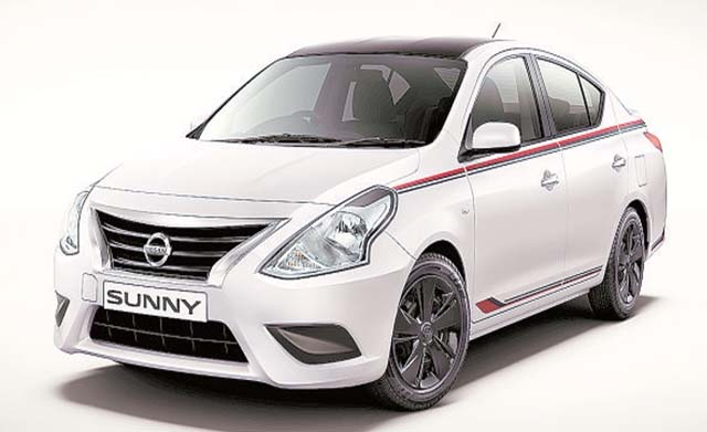 nissan sunny special edition frontview