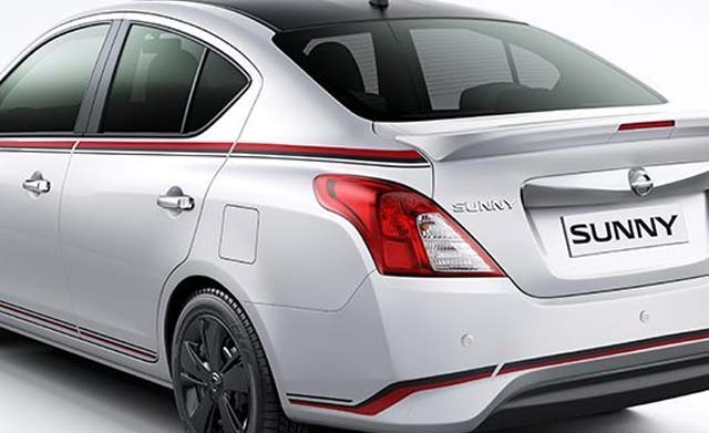 nissan sunny special edition rearview