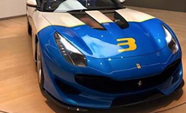 Ferrari SP3JC Car Front Images