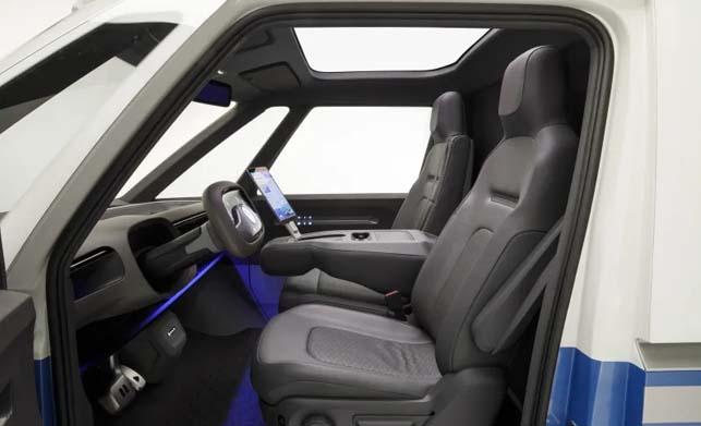 Volkswagen I.D. Buzz Cargo Concept Interior Photos