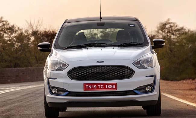 Ford Aspire Titanium Blu Variant Spotted Testing